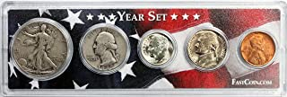 1947 Coin Year Set in Custom Case with American Flag - Great Gift for Any Occasion