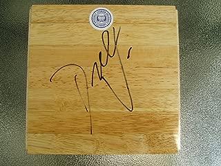 Dick Vitale ESPN basketball signed wood floor COA