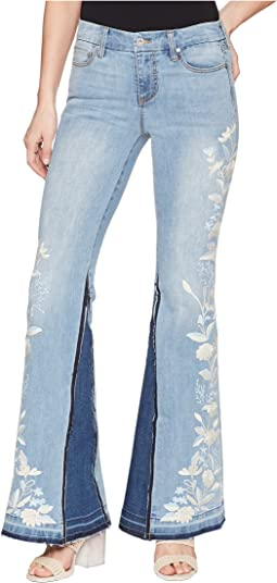 Liverpool - LVPL by Liverpool Farrah Super Flare with Embroidered in Vintage Super Comfort Stretch Denim in Beverly Wash