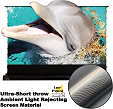 VIVIDSTORM Motorized Floor Rising Projection Screen for 4K Ultra Short Throw Laser Projector,120 inch Diag 16:9, Ultra-Short Throw Ambient Light Rejecting, Wireless Projector Trigger, VMDSTUST120H