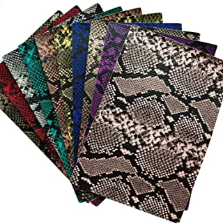 10pcs Snake Embossing Faux Leather Sheet 8x12 inch PU Leather Fabric Craft