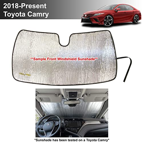 popular YelloPro Auto Custom Fit Car Front Windshield Reflective Sunshade Protector for 2018 2019 2020 2021 Toyota Camry LE XLE outlet sale Hybrid SE XSE Sedan, Sun Shade 2021 Accessories, Made in USA outlet online sale
