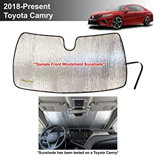 YelloPro Custom Fit Automotive Reflective Front Windshield Sunshade Accessories UV Reflector for 2018 2019 2020 Toyota Cam...
