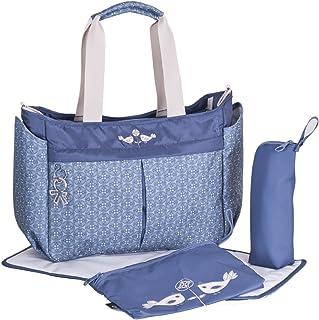 azul 6638 Light Blue Miss Lulu 3 piezas Bolso para pa/ñales Pa/ñalera Cambiador de pa/ñales bolso de hombro grande bolso de cuero sint/ético
