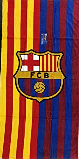 MES QUE UN CLUB FC Barcelona Soccer Team Two Tone Beach Towel
