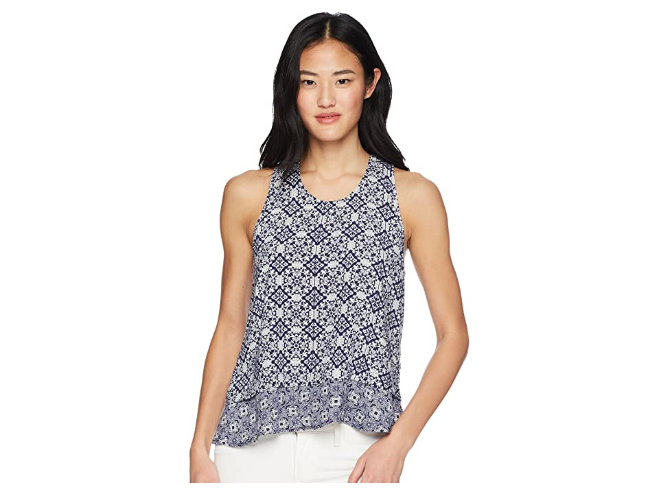 Jack by BB Dakota Kinley Ikat Printed Top (Dark Indigo) Women