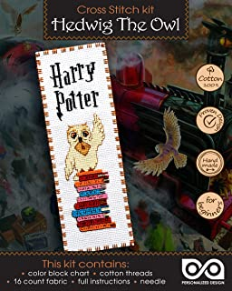 Embroidery Kit with Pattern 'Hedwig The Owl' - Counted Cross Stitch Bookmark
