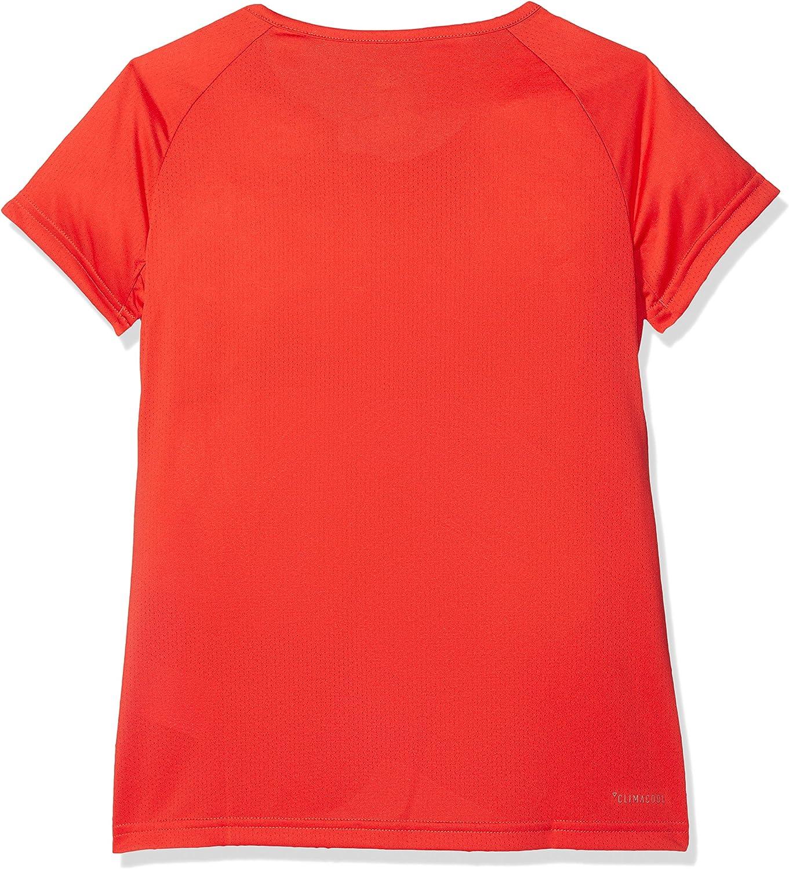 adidas Girls Tshirts Kids Training Cool Tee Running Climacool Coral
