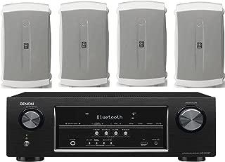 Denon 5.2 Channel 700-Watt Full 4K Ultra HD Bluetooth AV Home Theater Receiver + Yamaha High-Performance Natural Surround Sound 2-Way 120 watts Indoor/Outdoor Weatherproof Speaker System (Set Of 4)