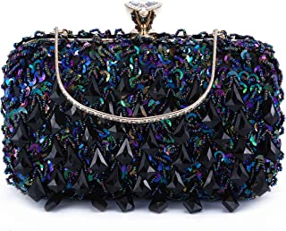 Women Clutch Wedding Purse Rhinestone Crystal Beaded Bags Cocktail Party Bridal Prom Handbag for Women