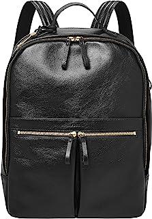 Fossil Women's Tess Leather Laptop Backpack Handbag, Black