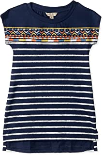 Lucky Brand Girls' Short Sleeve Stripe Fashion Dress