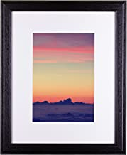 Craig Frames Wiltshire 236 Simple Hardwood Picture Frame with Single White Mat, Displays a 16 x 20 Inch Print with The Mat or 20 x 24 Inch Without The Mat, Black