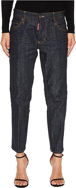 DSQUARED2 - Boyfriend Dark Wash Jeans in Blue