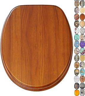 Asiento para inodoro de cierre suave, gran selección de atractivos asientos de inodoro de madera con calidad superior y du...