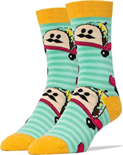 Oooh Yeah Socks  - Mens Crew - Taco Dude, Large