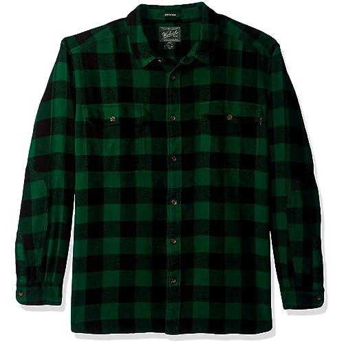 a30dcf1a9228 Woolrich Men s Oxbow Bend Plaid Flannel Shirt - 100% Cotton