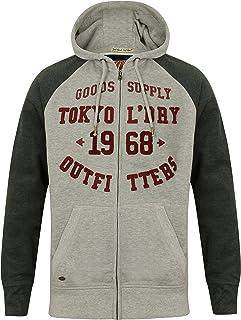 Nouveau Homme Tokyo Laundry Eli Sweat à capuche zippé à manches longues Pull Capuche Taille S-XL