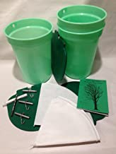 Premium Maple Syrup Kit - 3 Buckets w/Lids, 3 Stainless Taps, Tapping Bit, 2 Filters & Guide to maple Sugaring