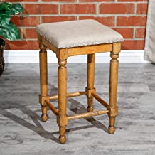 """DTY Indoor Living Emerald Lake Backless Stool, 30"""" bar Height or 24"""" Counter Height"""