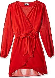 Only Star S/L Chiffon Dress WVN Flame Scarlet EU 42