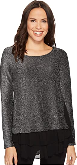 Karen Kane - Sheer Hem Sparkle Top
