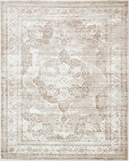 Unique Loom 3134075 Sofia Collection Traditional Vintage Beige Area Rug, 8' x 10' Rectangle