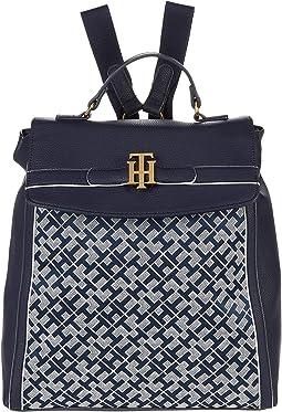 Laurel II-Flap Backpack-Geometric Jacquard