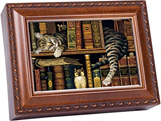 Image of Adorable Sleeping Cat Music Box