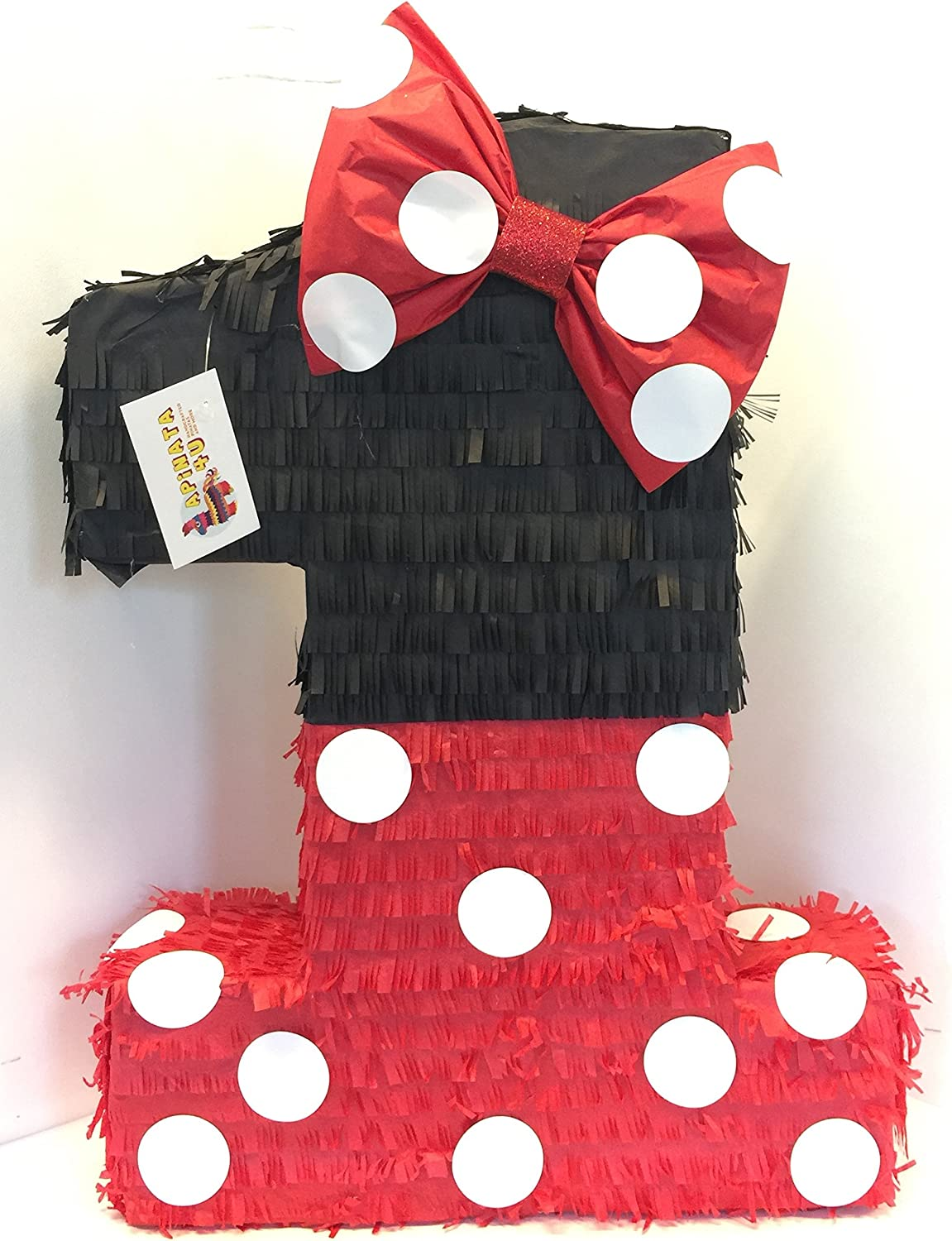 APINATA4U Large Black Red Number New product!! One Nippon regular agency Bow Pinata with
