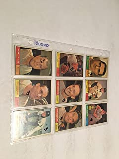 9 1961 TOPPS BASEBALL CARDS IN PROTECTOR SHEETS CARDS 233-282