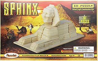 Puzzled 3D Puzzle Sphinx Wood Craft Construction Model Kit, Unique, Fun and Educational DIY Wooden Toy Assemble Model Unfi...