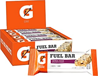Gatorade Prime Fuel Bar, Oatmeal Raisin, 45g of carbs, 5g of protein per bar (12 Count)
