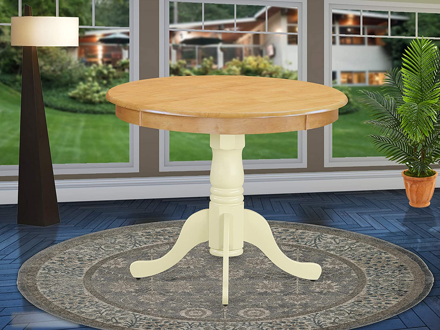 East West Furniture ANT-OMK-TP Antique Table 36