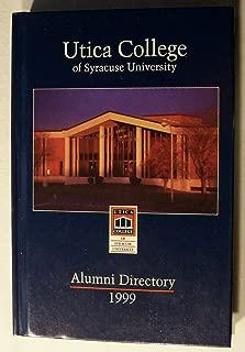 Utica College of Syracuse University Alumni Directory 1999
