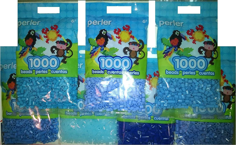 Perler Bead Bag, 7 Pack Group (Blue Dark, Light, Pastel, Blueber