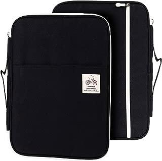 Lazyaunti Zipper Portfolio Organizer A4 Note Pouch-Waterproof Document Bags/Zipper Binder/Paper Case for 12.5