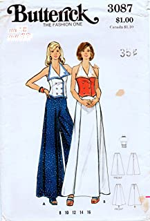 Butterick 3087 Misses Sailor Top with Maxi Skirt or Pants Sewing Patterns Check Offers for Size