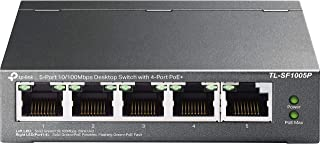 TP-Link PoE Switch 5-Port 100 Mbps, 4 PoE+ ports up to 30 W for each PoE port and 67 W for all PoE ports, Metal Casing, Pl...