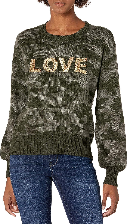 Skinnygirl Women's Shine Novelty Pullover Sweater