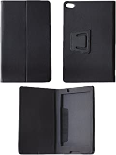 KANICT 8-inch Tablet Leather Flip Cover for Lenovo Tab4 8 LTE -(Black)