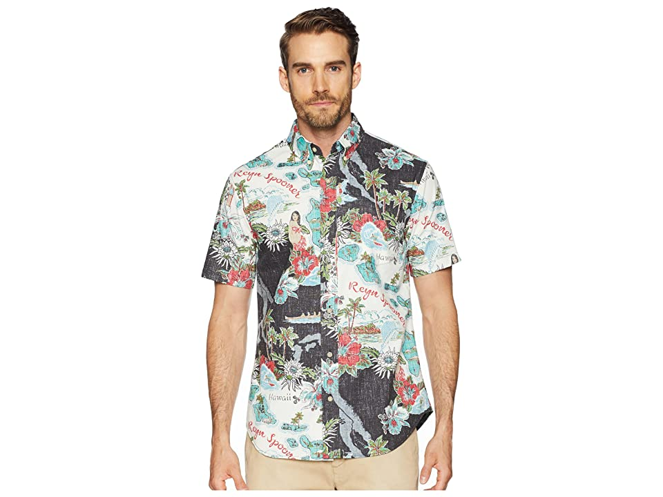 Reyn Spooner Status Oceanic Tailored Fit Aloha Shirt (Black) Men