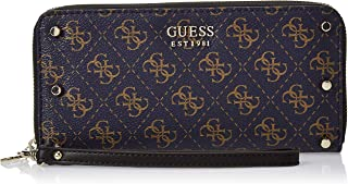 GUESS Womens Large Zip Around Purse, Deep Blue - SG743746