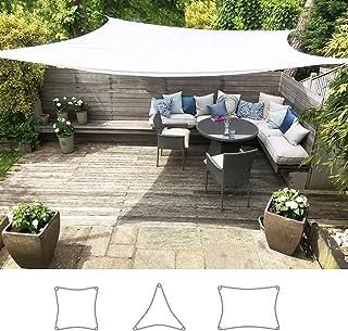 06cb63aa Toldo Vela Clara Shade Sail blanco impermeable sol vela de sombra para  jardin impermeable UV Canopy