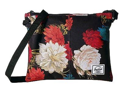 Herschel Supply Co. Alder (Vintage Floral Black) Cross Body Handbags