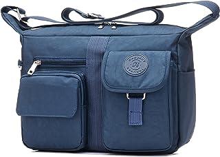Fabuxry Women's Shoulder Bags Casual Handbag Travel Bag Messenger Cross Body Nylon Bags