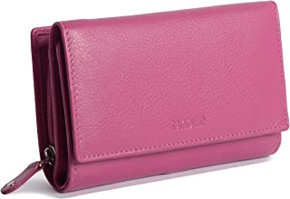 SADDLER Womens Luxurious Real Leather Trifold Wallet Clutch Purse with Zipper Coin Purse | Ladies Designer Multi Credit Ca...