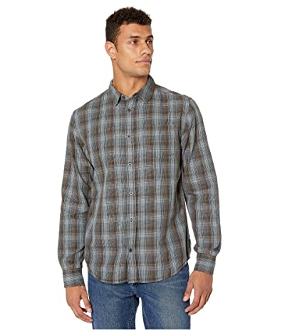 Prana Holton Long Sleeve Shirt (Rich Brown) Men