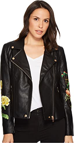 Floral Moto Jacket in Bed of Roses