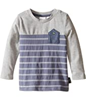 Kardashian Kids - Blocked and Striped Inverted Chambray Pocket Tee (Infant)